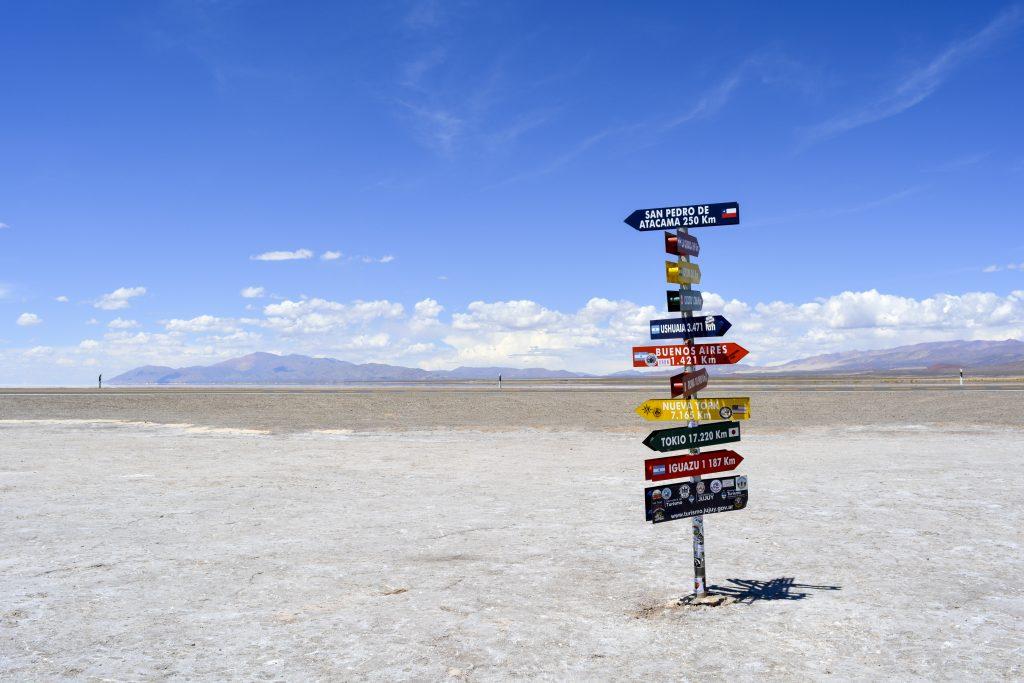 Multicolored signage